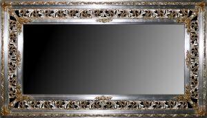 Rama Ażurowa płatki srebro-złoto / szlagmetal,  szerokość profilu 23cm