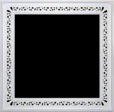 Rama ażurowa lakierowana  biały mat / szerokość profilu 18,5cm