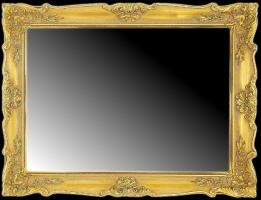 Fazowane lustro w klasycznej ramie.