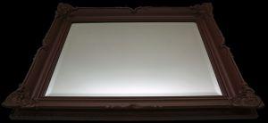 Rama stylowa do lustra, lakierowana (brąz mat) szerokość profilu 9cm