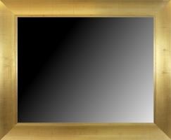 Lustro w szerokiej ramie drewnianej, złoconej szlagmetalem