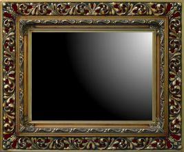 Rama ażurowa do lustra / pokrycie złoto szlagmetal / szerokość profilu 18cm
