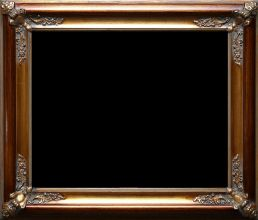 Rama stylowa kryta płatki złota / szlagmetal  / szerokość profilu 9cm