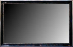 Rama do lustra nr.1111p, pokrycie płatki srebra / politura. Szerokość profilu 10cm.