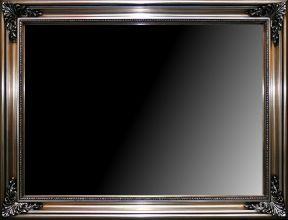 Rama stylowa do lustra lub obrazu, pokrycie płatki srebra / patyna. Szerokość profilu ramy 10cm.