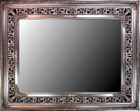 Rama ażurowa do lustra / pokrycie srebro szlagmetal / szerokość profilu 18cm