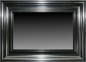 Rama drewniana nr.6104s pokrycie srebro szlagmetal, patyna grafit szerokość profilu ramy 10,5cm