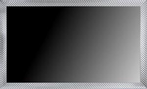 Lustro w srebrnej ramie, pokrycie szlagmetal