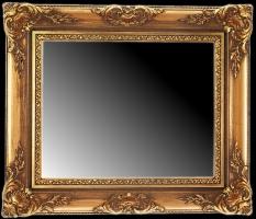 Lustro w szerokiej, złoconej ramie drewnianej
