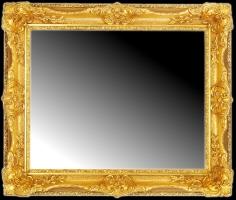 Lustro w klasycznej złoconej ramie drewnianej