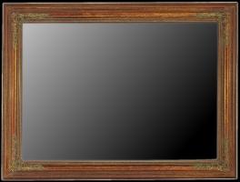 Dekoracyjna złocona i patynowana rama drewniana do lustra