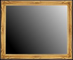 Lustro w ramie stylowej złoconej