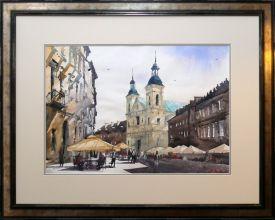 Rafał Rudko -Kościół św. Ducha w Warszawie  akwarela 42 x 60cm