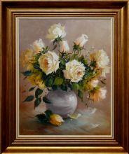 Elżbieta Kołodziejska 'Róże' obraz olejny 50 x 40cm