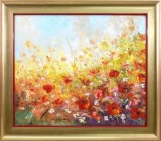 Adam Nowakowski - obraz olejny 'Kwiatowa Polana'