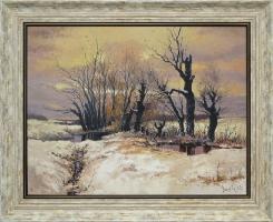 Jan Brzezicki - Pejzaż zimowy