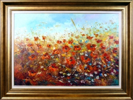 Kwiatowa Polana obraz olejny Adama Nowakowskiego