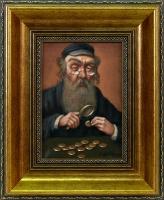 Wiktor Wałęga - Portret Żyda liczącego pieniądze