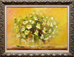Adam Nowakowski -Kwiaty obraz olejny 50 x 70cm/sprzedany