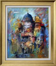 A. Gudański  'Katedra' obraz olejny 50 x 60cm