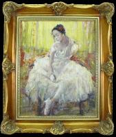 Piotr Szultz 'Baletnica' obraz olejny 40 x 50cm
