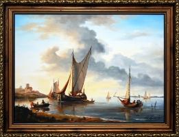 Roman Kornecki - obraz olejny -  Marynistyka
