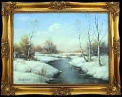 Roman Kornecki - Zimowy pejzaż
