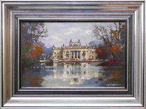 Waldemar Żaczek 'Łazienki Królewskie w Warszawie' obraz olejny 25 x 40cm