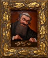 Wiktor Wałęga Portret Żyda liczącego pieniądze