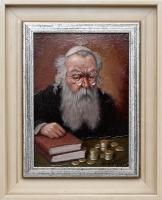 Wiktor Wałęga obraz olejny  Portret Żyda