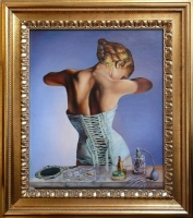 'Vitus' Witali Żuk 'Akt' obraz olejny na płótnie 50 x 60cm