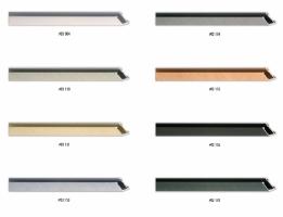 Szczotkowane profile ram aluminiowych, do oprawy miłych i średnich formatów zdjęć lub plakatów.