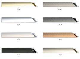 Płaski 2cm, matowy profil aluminiowy, stosowany do oprawy każdego formatu pracy