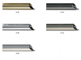 Zaokrąglony profil ramy aluminiowej, stosowany także do większych formatów prac.