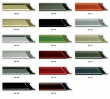 Ramy aluminiowe do oprawy małych i średnich formatów prac.