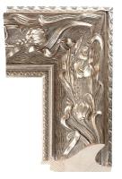 Szeroka klasyczna rama, srebrzona i patynowana