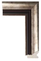 Klasyczna srebrna rama drewniana do oprawy lustra lub obrazu