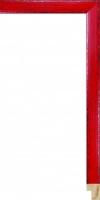Rama drewniana lakierowana - kolor czerwień