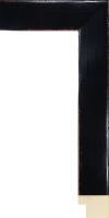 Czarna lakierowana rama drewniana