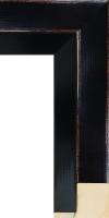 Rama do oprawy obrazu olejnego na krośnie, drewniana, lakierowana
