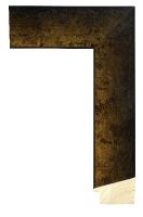 Drewniana rama, wykończenie w starym złocie