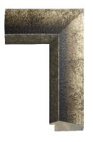 Drewniana rama, wykończenie srebro postarzane
