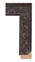 Czarna rama drewniana z dekoracyjnym wytłoczeniem