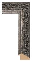 Rama ozdobna drewniana, wykończenie stare srebro