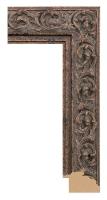 Rama ozdobna drewniana, wykończenie stare złoto