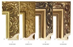 Dekoracyjne złocone i patynowane ramy drewniane do lustra lub obrazu