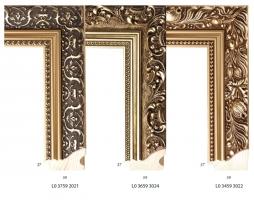 Ramy drewniane, klasyczne profile ram z motywem dekoracyjnym
