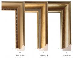 Ramy drewniane, klasyczne profile ram z delikatnym motywem dekoracyjnym