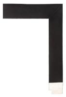 Rama drewniana, czarna kostka