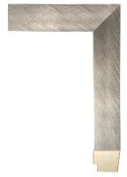 Rama drewniana nowoczesna, szczotkowane srebro